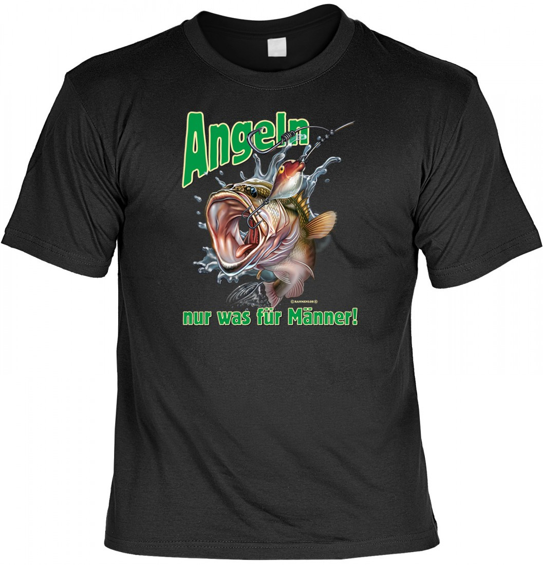lustiges t shirt f r angler angeln nur was f r m nner. Black Bedroom Furniture Sets. Home Design Ideas